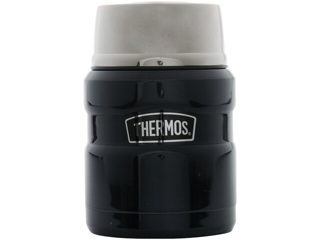 Thermos King Food Jar 450 ml of titanium, dark blue